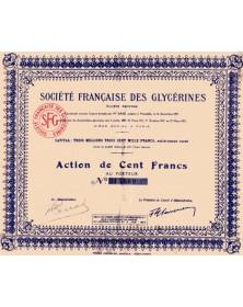 Sté Française des Glycérines