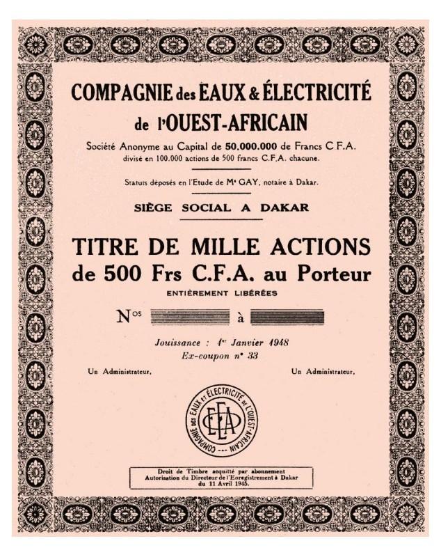 Cie des Eaux et Electricité de l'Ouest-Africain
