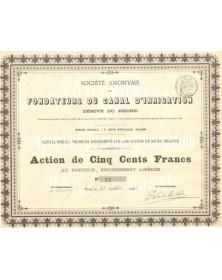 S.A. des Fondateurs du Canal d'Irrigation - Dérivé du Rhône
