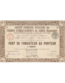 Sté Française Auxiliaire des Grands Ets de Sinaïa, Foucret, Dumien & Cie