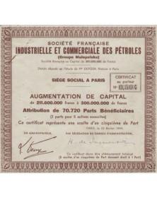 Sté Française Industrielle & Commerciale des Pétroles (Groupe Malopolska)