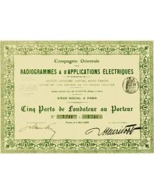 Cie Orientale des Radiogrammes & Applications Electriques