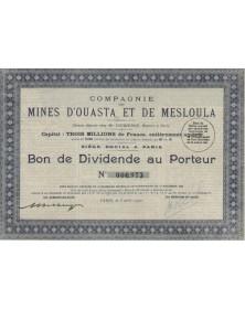 Cie des Mines d'Ouasta et de Mesloula