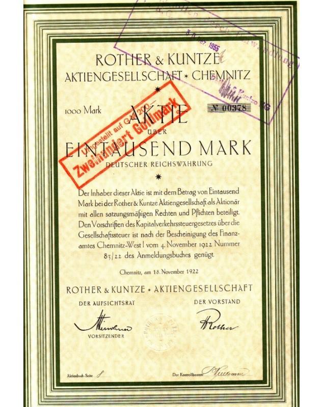 Rother & Kuntze Aktiengesellschaft - Chemnitz
