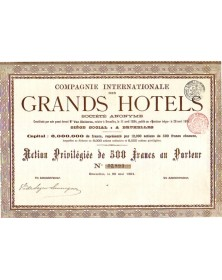 Cie Internationale des Grands Hotels