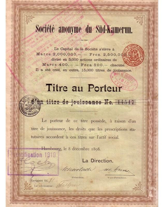 Sté du Süd-Kamerun/ Gesellschaft Süd-Kamerun