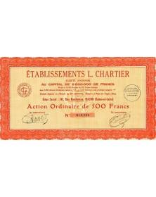 Etablissements L. Chartier