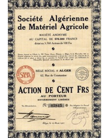 Sté Algérienne de Matériel Agricole