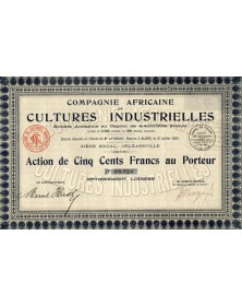 Cie Africaine de Cultures Industrielles