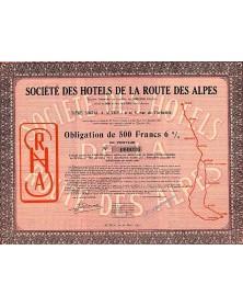 Sté des Hotels de la Route des Alpes