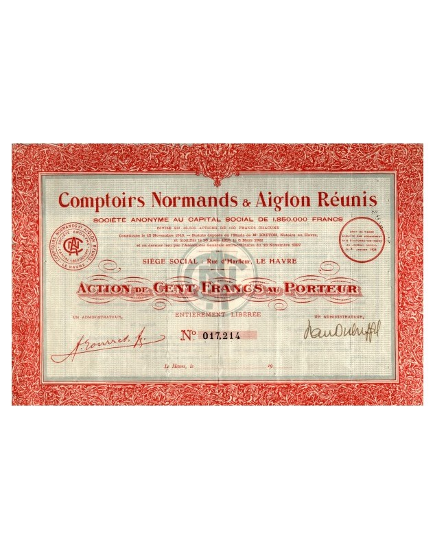 Comptoirs Normands & Aiglon Réunis