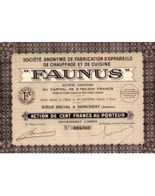 S.A. FAUNUS. Fabrication d'Appareils de Chauffage et de Cuisine