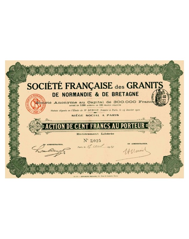 Sté Française de Granits de Normandie et de Bretagne