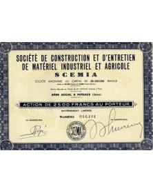 Sté de Construction et d'Entretien de Matériel Industriel et Agricole SCEMIA