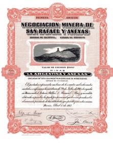 """Negociacion Minera de San Rafael y Anexas - Mines """"La Argentina y Anexas"""""""