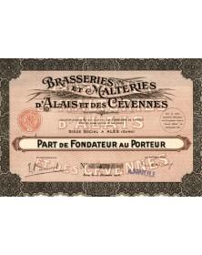 Brasseries et Malteries d'Alais et des Cévennes. 1926