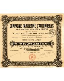 Cie Parisienne d'Automobiles pour Service Publics & Privés