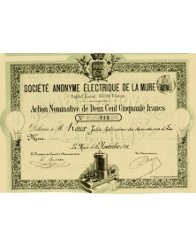 Sté Electrique de la Mure (Isère)