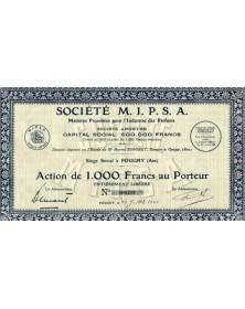 Sté M.I.P.S.A. M (Matières Premières pour l'Industrie du Parfums)