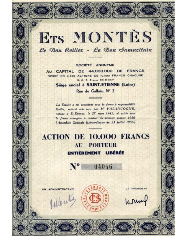 Ets Montès - Le Bon Cellier - Le Bon Samaritain