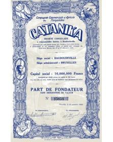 Cie Commerciale et Agricole du Tanganika - Catanika -