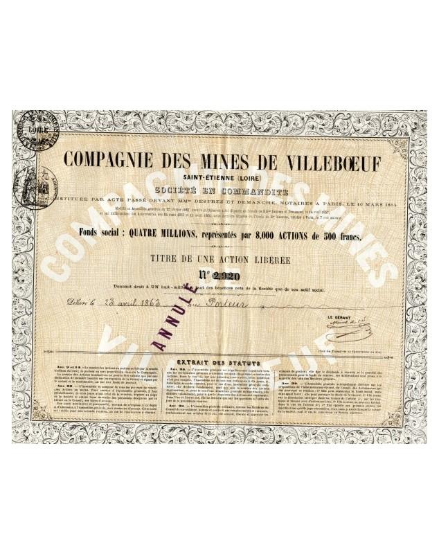 Cie des Mines de Villeboeuf Saint-Etienne