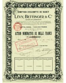 Comptoir d'Escompte de Nancy Lévy, Bettinger & Cie