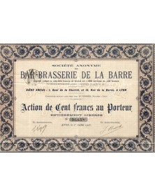 S.A. du Bar - Brasserie de la Barre