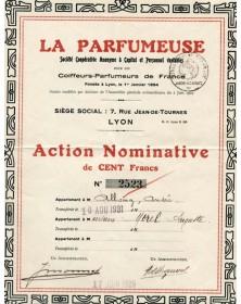 La Parfumeuse - Sté pour les Coiffeurs-Parfumeurs de France Lyon