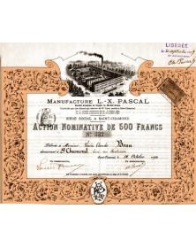 Manufacture L.- X. PASCAL, Saint-Chamond 1894. Rhône-Alpes/Loire 42