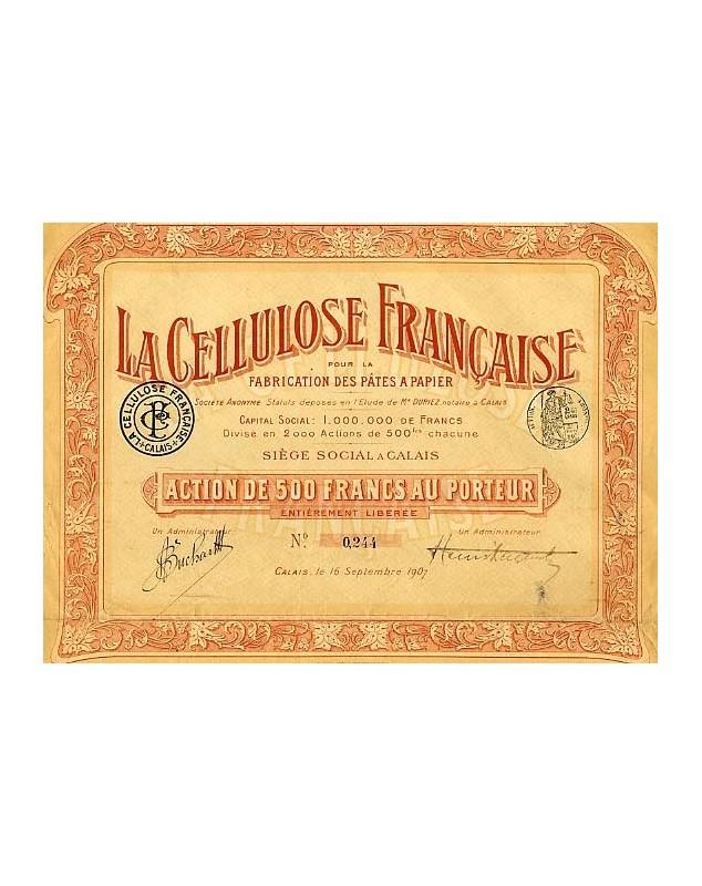 La Cellulose Française pour la Fabrication des Pâtes à Papier