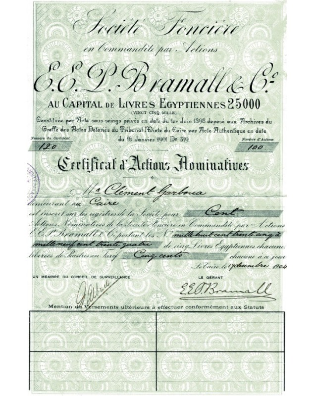 Sté Foncière E.E. P. Bramall & Co.