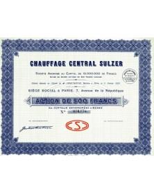 Chauffage Central Sulzer