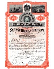 Cia Minera de Santa Geretrudis y Guadalupe - Copernico