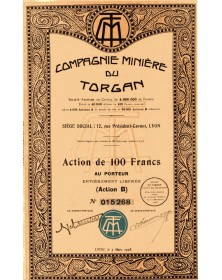 Compagnie Minière du Torgan. 1928
