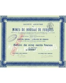 Mines de houille de Ferques (Pas-de-Calais)