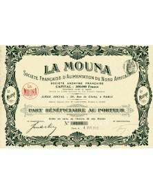 'La Mouna'' Sté Française d'Alimentation du Nord Africain