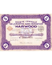 Sté Centrale de la Montre sans Remontoir ''Harwood''