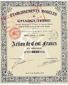 Etablissements Modèles de Charcuterie Lyon