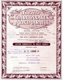 Sté des Charbonnages de Montmarault