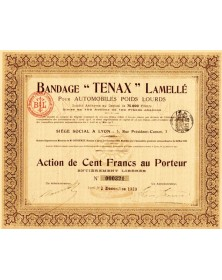 Bandage ''Tenax'' Lamellé pour Automobiles Poids Lourds