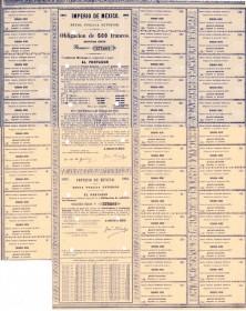 Mexican Empire - External  Public Debt 2nd serie. 1865