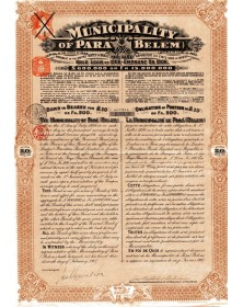 Municipality of Para (Belem) - Emprunt Or 1906