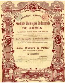 Sté des Produits Chimiques Industriels de Haren (anciennes usines Félix Coutois)