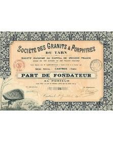 Sté des Granits & Porphyres du Tarn