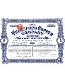 The Telesforo Copper Company Ltd, mines de cuivre