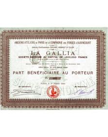 La Gallia - Anciens Ateliers de Paris de la Cie des Forges d'Audincourt
