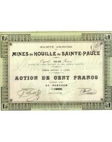 S.A. des Mines de Houille de Sainte-Paule