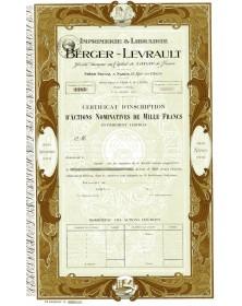 Imprimerie & Librairie Berger-Levrault