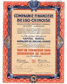 Cie Financière Belgo-Chinoise